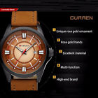 Luxury CURREN Leather Waterproof Date Quartz Watch Men Stainless Wrists Analog
