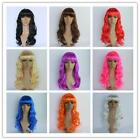 1 Pcs 50cm Heat Resistant Bang Long Wavy Curly Cosplay Anime Wig Party Hair DC