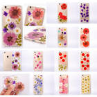 Super Beautiful Dried Flowers Decorative TPU Rubber Fitted Cover Case For Phones
