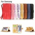 New Double Sided Embossed Flower Flip Stand Case for Samsung Galaxy Series