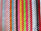 "50 yards Spool Dippy Polka Dots Grosgrain 7/8"" Ribbon/Wholesale Price R43-Roll"