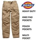 DICKIES EISENHOWER WORK TROUSERS KHAKI GREY MULTI POCKET MENS EH26800