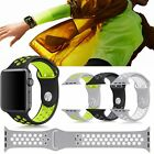 Silicone Sports Replacement Band Bracelet Strap For Apple Watch 38mm 42mm New