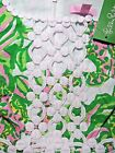 New Lilly Pulitzer ROSIE SHIFT DRESS 4 8 10 Green Seeing Pink ELEPHANTS Lace NWT