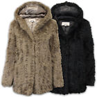 Ladies Fur Coat Womens Jacket Mink Hooded Vintage Boutique Warm Lined Winter New