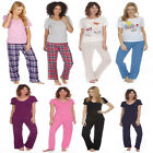 Ladies Forever Dreaming Flannel Or Viscose Jersey Or V Neck Cotton Pyjama Set