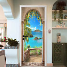 3D Corridor Sea 13 Door Wall Mural Photo Wall Sticker Decal Wall AJ WALLPAPER AU
