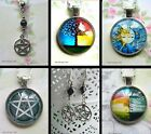 WICCA PAGAN PENTACLE MOON HAIR  PENDANT CHARM NECKLACE EARRINGS