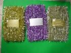 New 40 FT Tinsel Garland Christmas Holiday Decoration Silver Gold Purple/Silver