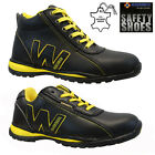MENS LEATHER STEEL TOE CAP SAFETY WORK HIKER TRAINERS SHOES BOOTS SIZE UK 6-13