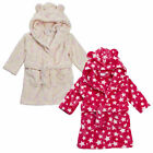 Beautiful Baby Girls Dressing Gown Cream or Pink Soft Fleece 6-12m 12-18m 18-24m