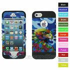 For iPhone SE, 5s, 5 Colorful Camo Eagle Hybrid Rugged Armor Phone Case Cover