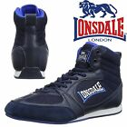 Lonsdale Widmark Boxing Boots Navy/Blue Trainers Shoes Classic Sportswear