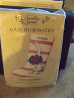 Quilted Goose Stocking--Counted Cross Stitch Kit--New