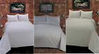 Greek Key Double Bedspread, Available in Smokey Grey, Cream and White