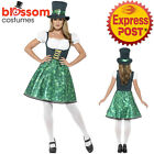 CA169 Womens Leprechaun Lass Lucky Irish St Patricks Fancy Dress Costume Outfit