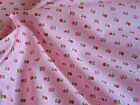 Pink floral fabric 100% cotton available in fat quarter half metre and metre