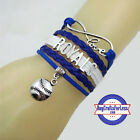 KANSAS CITY ROYALS Leather Woven Bracelet **FREE SHIPPING** on Ebay
