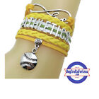 OAKLAND A's Leather Woven Bracelet **FREE SHIPPING** #InfinityBracelet on Ebay