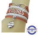 SAN DIEGO PADRES Leather Woven Infinity Bracelet *FREE SHIPPING* on Ebay