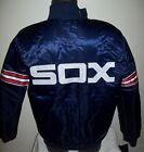 CHICAGO WHITE SOX STARTER Throw Back Snap Down Jacket MED LG  NAVY BLUE on Ebay