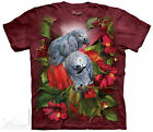 (4082) The Mountain T-Shirt Shirt AFRICAN GRAY MATES Papagei Papageien
