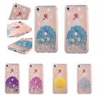 """For iPhone 6 7 4.7"""" Plus 5.5 Beauty Sweet Girl Glitter Flower TPU Hot Case Cover"""