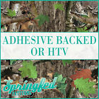 Green Tree Real Camo Pattern Adhesive Vinyl or HTV for Crafts or Shirts!