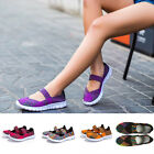 New Ladies Women Casual Breathable Sneakers Sports Flats knitting Running Shoes