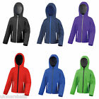 RESULT CORE KIDS CHILDS TX PERFORMANCE HOODED SOFT SHELL JACKET RS224B