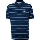 ANTIGUA MEN'S NEW YORK RANGERS DELUXE SHORT SLEEVE POLO