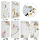 Luxury Wallet Rhinestone Stand Flip Card Leather Case Cover For LG Bello II
