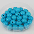 """4mm/6mm/8mm Blue Turquoise Round Gemstone Loose Beads DIY Jewelry Makings 15"""""""