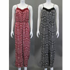 Ladies Dungaree Brave Soul Paisley Jumpsuit Sleeveless Playsuit Lace Summer New