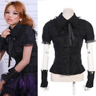 RQ GOTHIC PUNK BLACK 71016 SEXY LACE BLACK TOP SML
