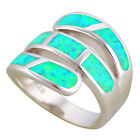 OR871 Gorgeous Rings for Women Green Fire Opal Silver Fashion Jewely Rings