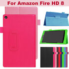 """Folio Case Leather Stand Cover For Amazon Fire Kindle HD 8"""" Case cover (6th Gen)"""