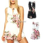 Sexy Playsuit Floral Overall Beach Jumpsuit Cocktail Evening Waist Pants Romper