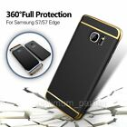 For Samsung Galaxy S7 Edge Electroplate 3 IN 1 Hard PC Hybrid Case Cover Skin UK