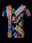 "Schwarzlicht T-Shirt Neon ""SCRAPE MULTI COLOURED"" Party Festival"
