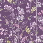 Holden Decor Charm Plum Fuchsia Humming Bird Wallpaper 12392