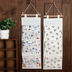 Over The Door Home Hanging Storage Closet Bag Linen Cotton Fabric Organization