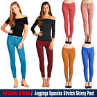 Women's Active Color Jeggings Regular to Plus Size Spandex Stretchy Skinny Pants
