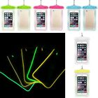 Universal PVC Luminous Waterproof Underwater Case Cover Bag For iPhone Samsung