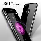 Metal effct Mirror Slim 360° Protective Tempered Glass Case For iPhone 6s 7 Plus