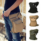 Adjustable Belt Men Canvas Waist Pack Fanny Leg Thigh Bum Bag Hiking Camping New