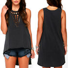 Sexy Women's Ladies Summer Vest Tops Casual Solid Blouse Tops O Neck T-Shirts