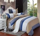 Duvet Cover With Pillow Case Quilt Cover Bedding Set Single Double King 6 Colors