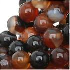 Dark Botswana Agate 6mm Round Beads /15 In. Strand