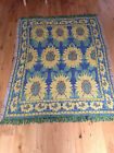 traditional modern THROWS 100% cotton rugs mats, SUNFLOWER, FREE P&P